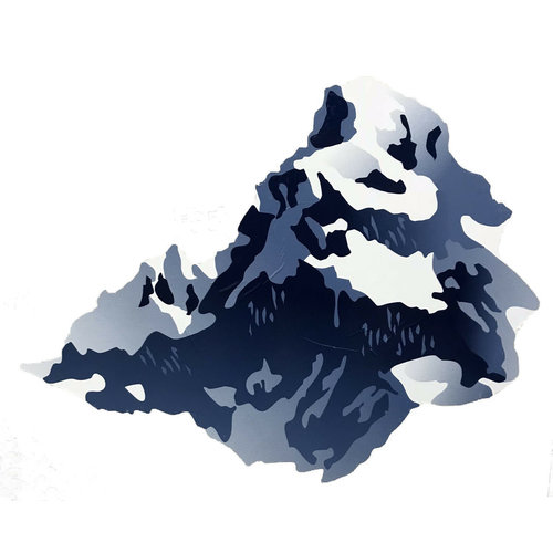 Unbranded Snow Top Mountain Decal