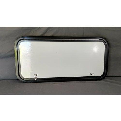 "Lippert Components 32"" x 15"" Baggage Door White w/ Black Trim"