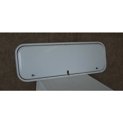 "Lippert Components 42.5"" x 14"" Baggage Door White w/ White Trim"
