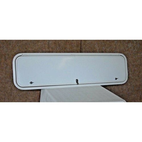 "Lippert Components 48"" x 12.5"" Baggage Door White w/ White Trim"