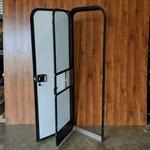"Lippert Components 24"" x 72"" Radius Entry Door LH Ivory Brown Fade"
