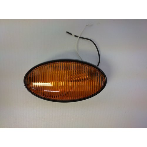 Optronics Inc. Amber Oval Porch Light w/ Black Base