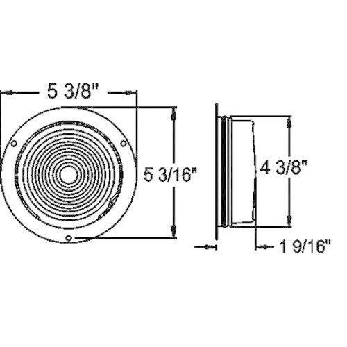 "Optronics Inc. 4"" Round Flush Mount Tail Light"