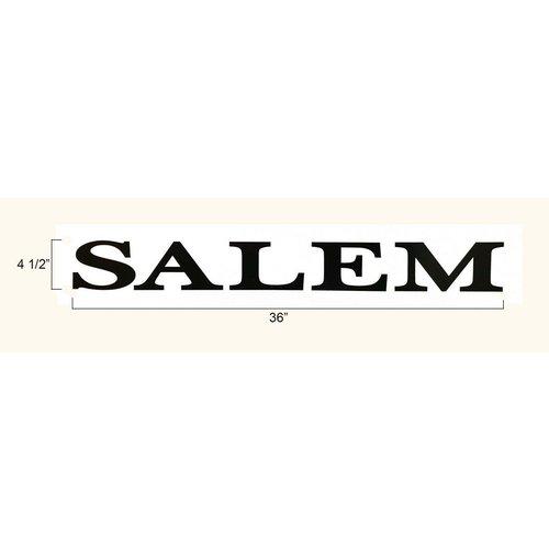 Unbranded Black Salem Decal