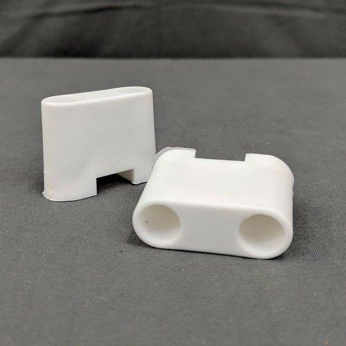 """RV Designer 1 1/4"""" White Plastic Entry Door Bumper for T-Style Door Holder"""