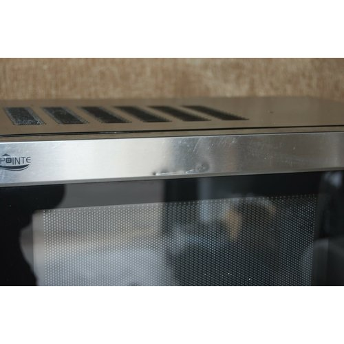 High Pointe Black and Stainless Steel 1.0 CU FT 900-Watt Built-In RV Microwave