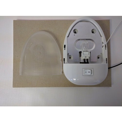 Optronics Inc. Light Fixture White Oval with On/Off Switch Optronics