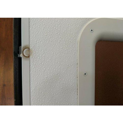 "Lippert Components 26"" x 72"" Entry Door White w/ White Trim Radius RH"