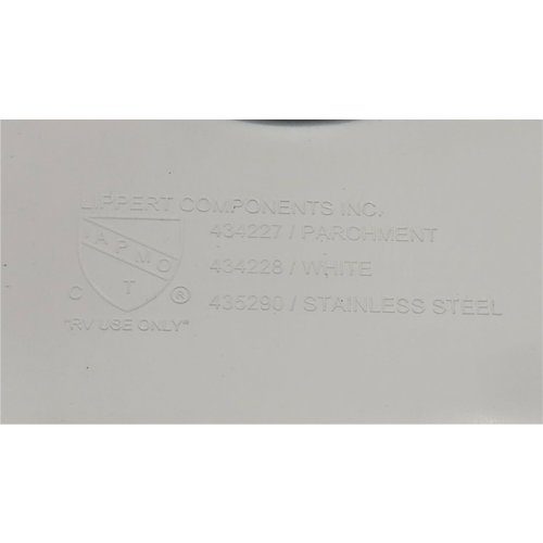 "Lippert Components 25"" x 17"" White Plastic Double Basin Kitchen Sink"