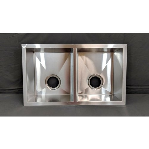"Unbranded 27"" x 16"" x 7"" Stainless Steel Zero Radius Undermount Double Basin Kitchen Sink"