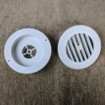 """D & W 2"""" Rotating Louvered White Furnace Register"""