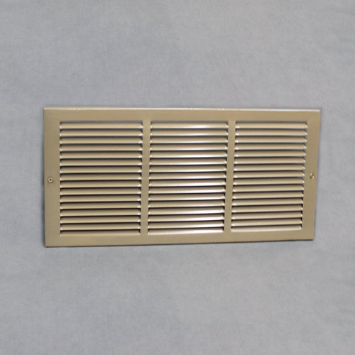 "US Aire Brown Metal Return Air Grill  18"" x 8"""