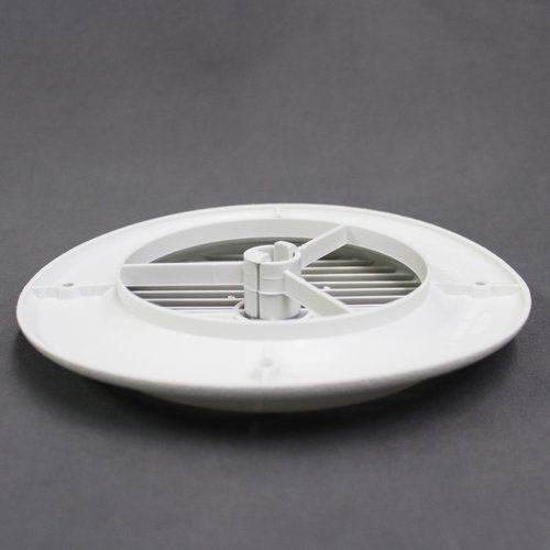 """Aireport 4"""" Rotating Louvered White Air Conditioner Register"""