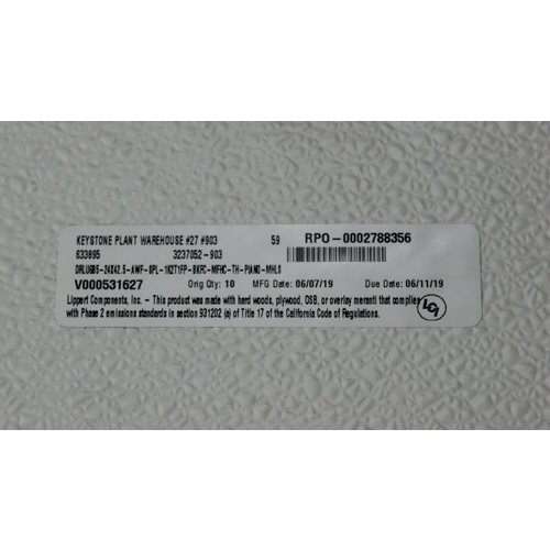"Lippert Components 24"" x 42.5"" Baggage Door White w/ Black Trim"