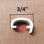 "Phillip Matthews Co 3/4"" fits 5/8"" Rail RV Trailer Flexible Screw Cover White Molding Cap"