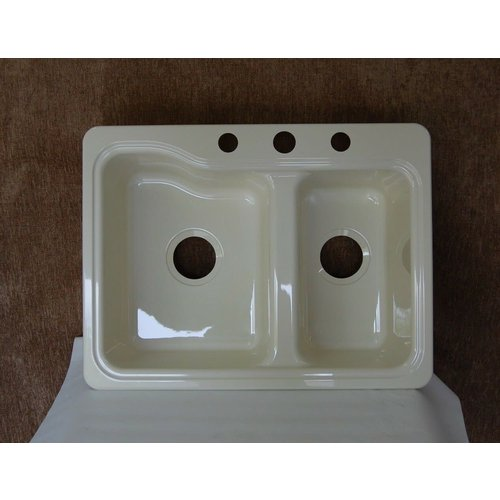 Dechco, Inc Sink Double Basin 25 x 19 Parchment Dehco