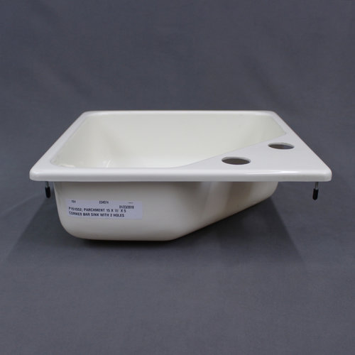 "Lippert Components Parchment Corner Bar Sink 15"" x 15"""