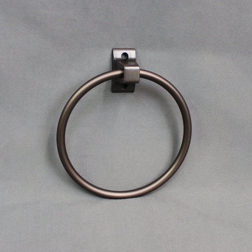 """Unbranded 6"""" Oil Rubbed Bronze Finish Towel Ring"""