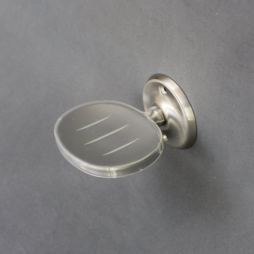 Unbranded Oval Nickel Wall Mounted Soap Dish