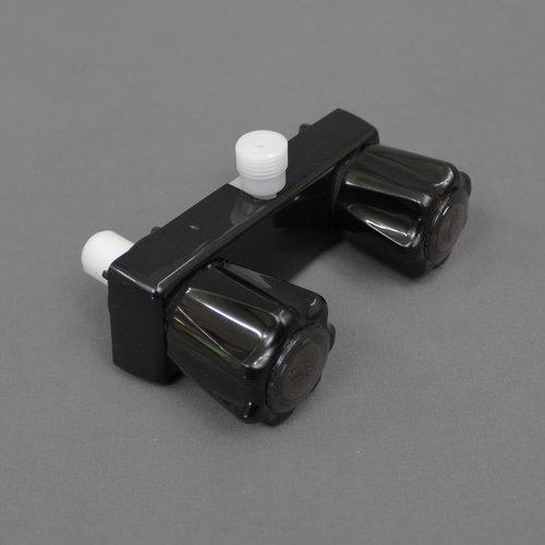 """Unbranded 4"""" Black Exterior Shower Faucet Diverter"""