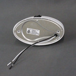 Optronics Inc. White Oval Porch Light w/ Clear Lens & Switch