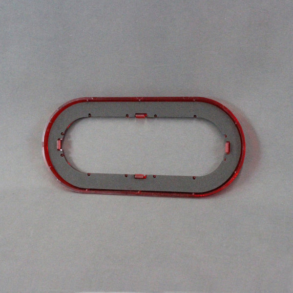 Optronics 6 Quot Oval Red Reflex Snap On Trim Ring For Stl78