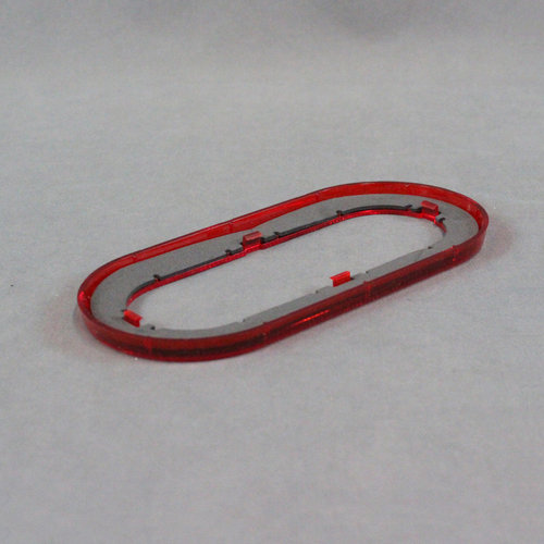 """Optronics Inc. 6"""" Oval Red Reflective Snap-On Trim Ring"""