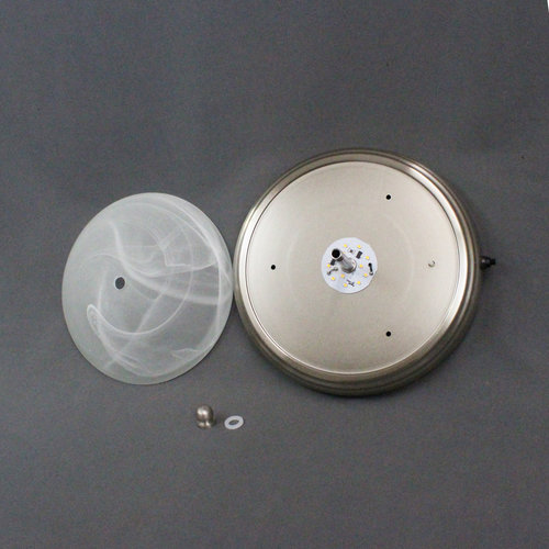 "Dream Lighting 12V 9"" LED Glass Dome Ceiling Fixture w/ Switch"