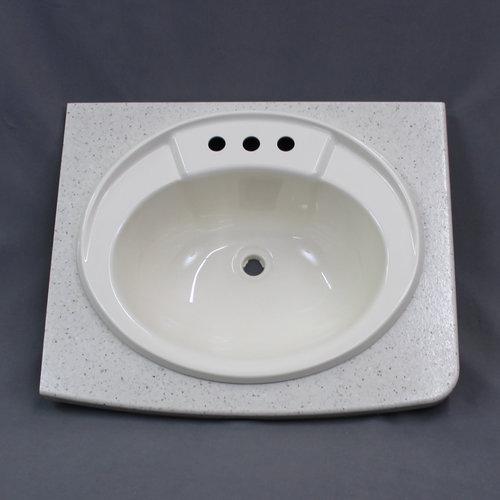"""Keystone 22 3/4"""" x 19"""" RV Bathroom Countertop w/ Sink Cut Out"""