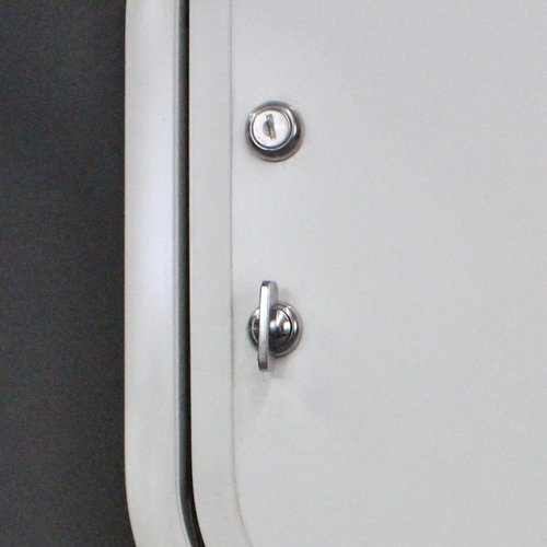 "Lippert Components 14"" x 30"" White Baggage Door w/ White Trim"