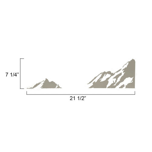 Unbranded Small Silver Mountains Left Corner Decal