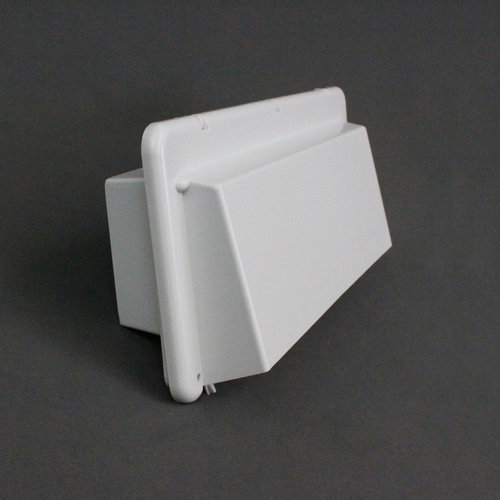 Heng's Industeries White Exterior Range Hood Stove Vent Cover w/ Damper