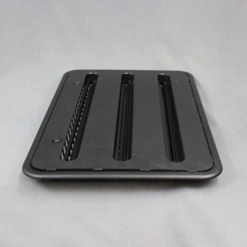 "Dometic 24"" Black Refrigerator Side Vent Assembly"