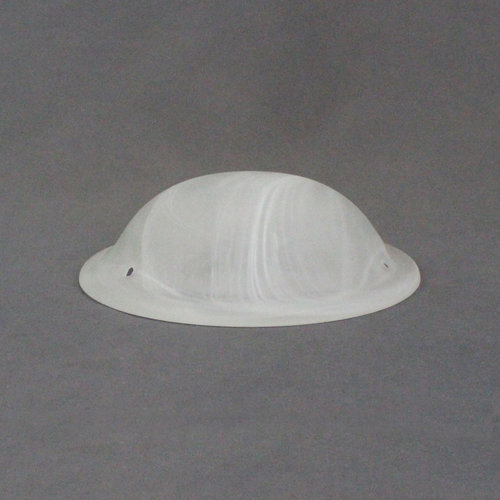 "LaSalle Bristol 8"" Frosted Alabaster Flush Mount Glass Globe"