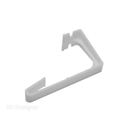 RV Designer White Plastic Curtain HoldBack 2 Pack