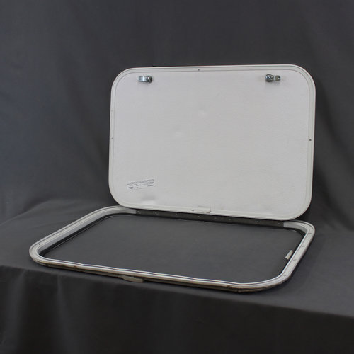 "Lippert Components 26"" x 18"" White w/ White Trim Baggage Door"