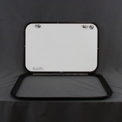 "Lippert Components 26"" x 18"" Tan w/ Black Trim Baggage Door"