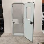 """Lippert Components 26"""" x 70"""" Radius Entry Door RH White Pebble Texture"""