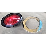 Optronics Inc. Tail Light Round Red Lens w/ trim