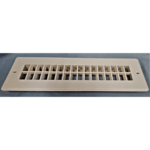 JR Products Floor Register 2 x 10 Brown Plastic Surplus