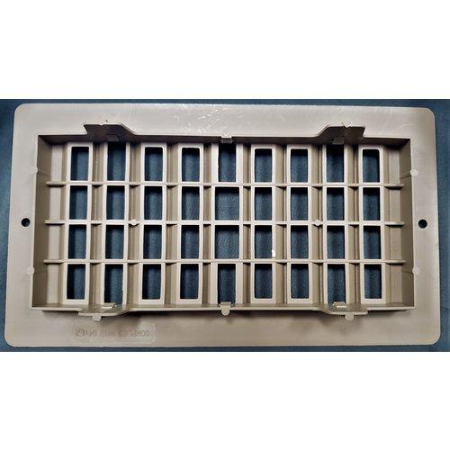 "AP Products Floor Register 4"" x 8"" Brown Plastic Surplus"