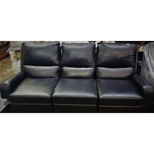 Unbranded Sofa Three Piece Recliner Black