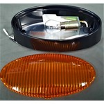 Optronics Inc. Porch Light Oval Black with Amber Lens On/Off Switch