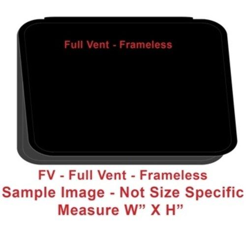Unbranded Window 56 x 46 Frameless Black