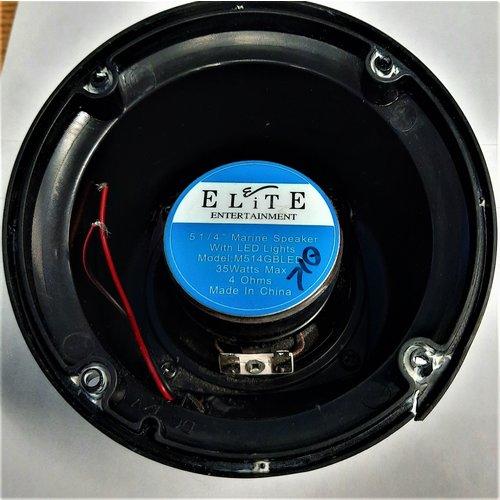 "Pummell Drive Elite M514GB 5-1/4"" Marine Speaker w/LED"