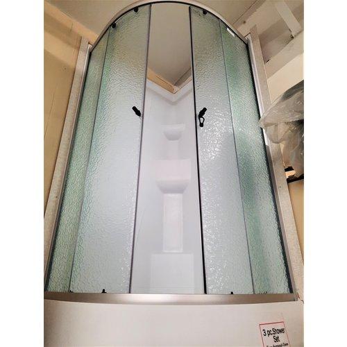 SEA Round Shower 34 x 34 White Set