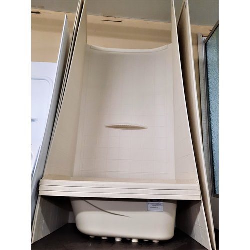 Surplus Shower Surround 24 x 36 x 68 Parchment