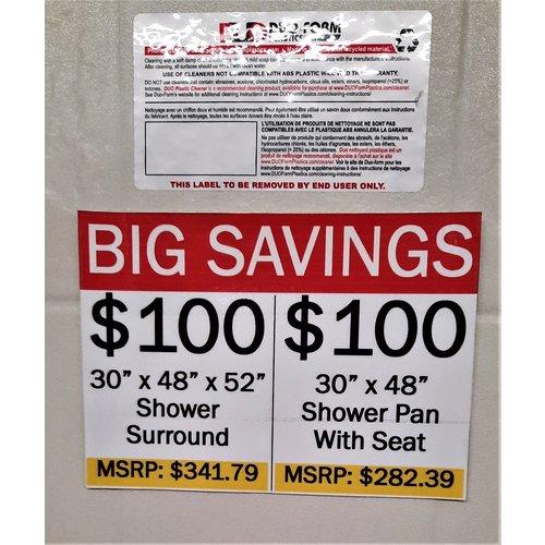 Shower Surround 30 x 48 x 52