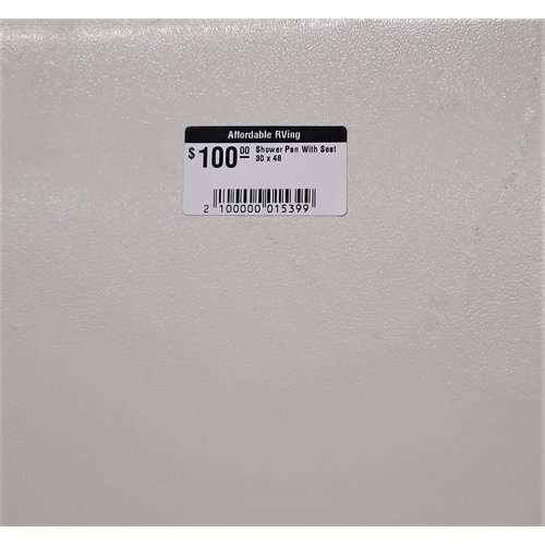 30 X 48 Shower Pan with Seat