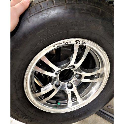 Unbranded Tire w/ Wheel 225/75/14 5 Lug Alloy